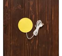 Настольная подставка с подогревом кружки (под логотип) желтая