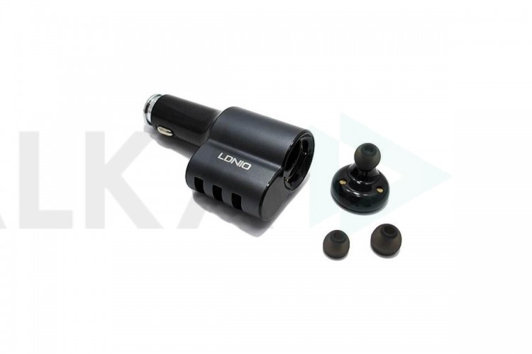 Беспроводные наушники Hands-free LDNIO автомобильная черная (поврежденная упаковка)