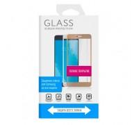 Защитное стекло дисплея Samsung S8 золотое 3D