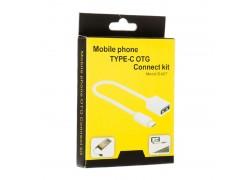 Кабель USB OTG - Type-C , 15 см