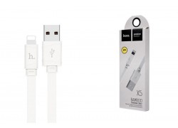 Кабель для iPhone HOCO X5 Bamboo lightning cable  белый,1 м