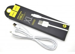 Кабель для iPhone HOCO X1 Rapid lightning cable белый,3 м