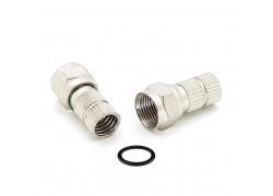 Орбита OT-AVT13 штекер F (F-разъем RG-6 резин.кольцо) (УПАКОВКА 100шт)