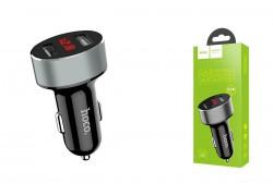 Автомобильное зарядное устройство 2USB HOCO Z26 high praise dual port car charger with digital display 3100 mAh черный