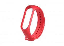 Ремешок силиконовый для XIAOMI MI Band 3/MI Band 4 цвет красный