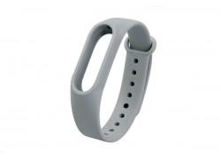 Ремешок силиконовый для XIAOMI MI Band 3/MI Band 4 цвет серый
