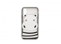 """Пластиковая накладка iPhone  Xr (6.1) с рисунком """"Бегемотик"""""""