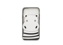 "Пластиковая накладка iPhone 11 Pro (5.8) с рисунком ""Бегемотик"""