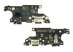 Шлейф для Xiaomi Redmi Note 9T с разъемом зарядки + разъем гарнитуры (плата)