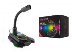 Микрофон для ПК игровой MARVO MIC-05, проводной, 1,5 метра, USB, чёрный