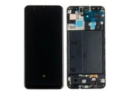 Дисплей для Samsung A505FN Galaxy A50 Black в сборе с тачскрином + рамка, orig100%