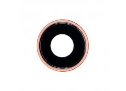 Стекло камеры для iPhone XR + рамка (кораловый)