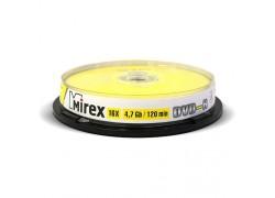 DVD-R Mirex 4,7 Гб 16x Cake box 10 (пластиковый туб 10 шт)