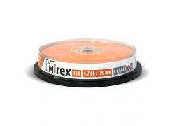 DVD+R Mirex 4,7 Гб 16x Cake box 10 (пластиковый туб 10 шт)