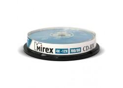 CD-RW Mirex 700Мб 4X-12X Cake box 10 (пластиковый бокс 10 шт)