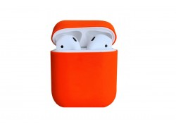 Чехол для гарнитуры вакуумной беспроводной AirPods Copy orig. оранжевый