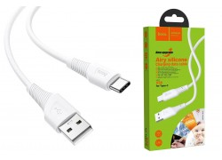 HOCO X58 Airy silicone charging cable for Type-C (белый) 1 метр
