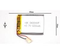 Аккумулятор для GPS, MP3   40\30\4 мм (3.7V)