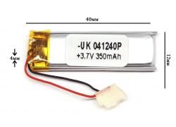 Аккумулятор для GPS, MP3  40\12\4 мм (3.7V) (500 мAh)