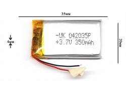 Аккумулятор для GPS, MP3  35\20\4 мм (3.7V)