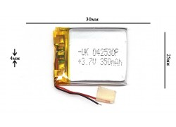 Аккумулятор для GPS, MP3  30\25\4 мм (3.7V)