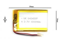 Аккумулятор для GPS, MP3  50\34\4 мм (3.7V) 800 mAh