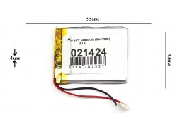 Аккумулятор для GPS, MP3  55\45\4 мм (3.7V) 1800 mAh