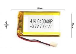 Аккумулятор для GPS, MP3   48\30\4 мм (3.7V) 700 mAh