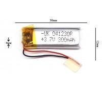 Аккумулятор для GPS, MP3  30\12\4 мм (3.7V) 250 mAh