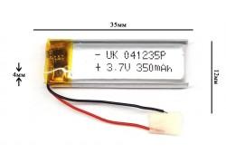 Аккумулятор для GPS, MP3  35\12\4 мм (3.7V) 250 mAh