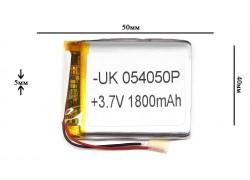 Аккумулятор для GPS, MP3  50\40\5 мм (3.7V) 1800 mAh