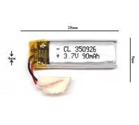 Аккумулятор для GPS, MP3  28\12\4 мм (3.7V)