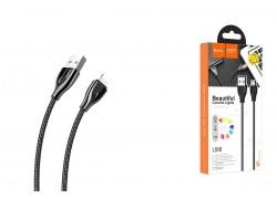 HOCO U88 Amazing colors charging cable for Lightning черный