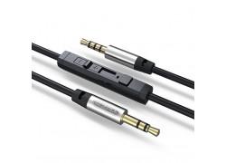 Кабель аудио AUX EZRA LA01 Черный с микрофоном (Джек 3,5 мм на Джек 3,5 мм) 1.5м