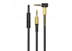 Кабель аудио AUX EZRA LA02 с микрофоном (Джек 3,5 мм на Джек 3,5 мм) 1.5м