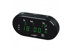 VST 801WX-4 Зеленые часы настольные (дата, температура)+БЛОК