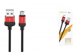 Кабель USB micro USB BOROFONE BX28 Dignity charging data cable  (красный) 1 метр