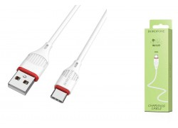 Кабель USB BOROFONE BX17 Enjoy charging cable for Type-C (белый) 1 метр