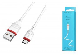 Кабель USB micro USB BOROFONE BX17 Enjoy charging cable (белый) 1 метр