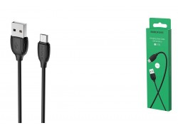 Кабель USB micro USB BOROFONE BX19 Benefit charging data cable (черный) 1 метр