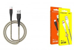 Кабель USB BOROFONE BX25 Powerful charging data cable for Type-C (черный) 1 метр