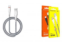Кабель USB BOROFONE BX25 Powerful charging data cable for Type-C (белый) 1 метр
