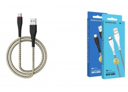 Кабель USB micro USB BOROFONE BX25 Powerful charging data cable (черный) 1 метр
