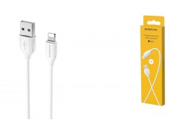 Кабель для iPhone BOROFONE BX19 Benefit charging data cable for Lightning 1м белый