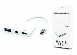 Адаптер USB-C --> USB3.0 + Jack3.5 + USB-C