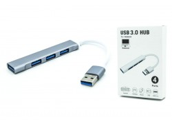 Разветвитель USB HUB (USB3.0 --> 4 USB3.0) 15см белый