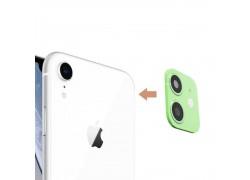 Защитная рамка камеры iPhone X/XS/XR/X Max зеленая (имитация 11 Pro)