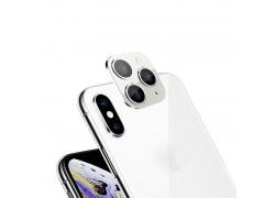 Защитная рамка камеры iPhone X/XS/XR/X Max белая (имитация 11 Pro)