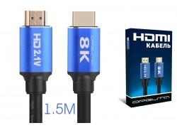 Кабель HDMI-HDMI Орбита OT-AVW47 1,5м (v2.1)