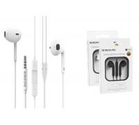 Наушники BOROFONE BM30 universal earphones AUX 3.5mm белая